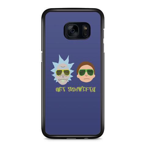 Rick and Morty Get Schwifty Samsung Galaxy S7 Edge Case Cover ISVA209