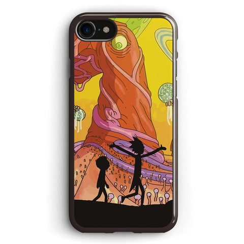 Rick and Morty Silhouette Apple iPhone 7 Case Cover ISVG272