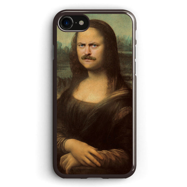 Ron Swanson Mona Lisa Apple iPhone 7 Case Cover ISVD012