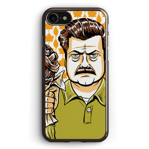 Ron Swanson Parks Apple iPhone 7 Case Cover ISVH558