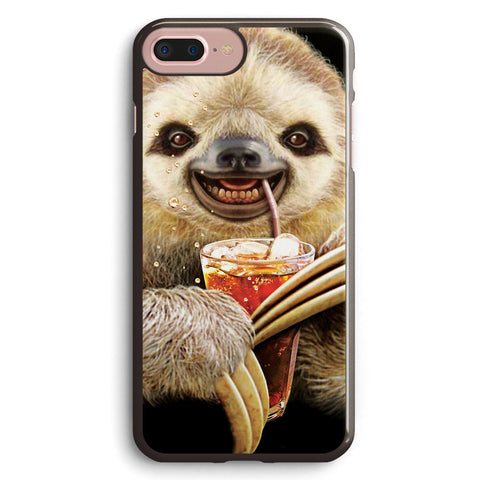 Sloth & Soft Drink Apple iPhone 7 Plus Case Cover ISVF408