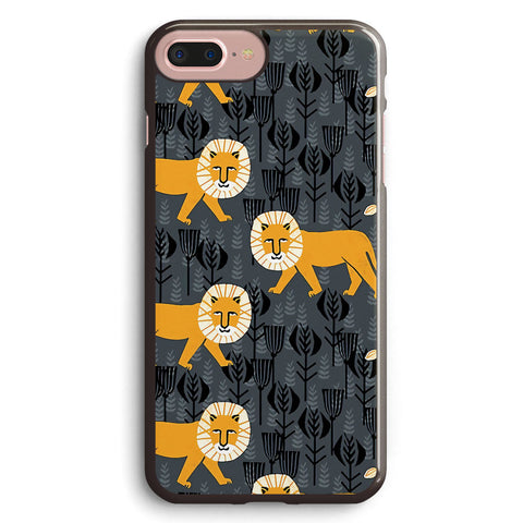 Safari Lion Pattern Apple iPhone 7 Plus Case Cover ISVD653