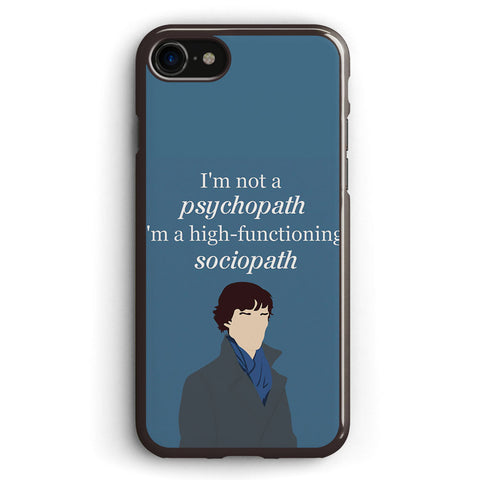 Sherlock Bbc Sociopath Quote Apple iPhone 7 Case Cover ISVH576