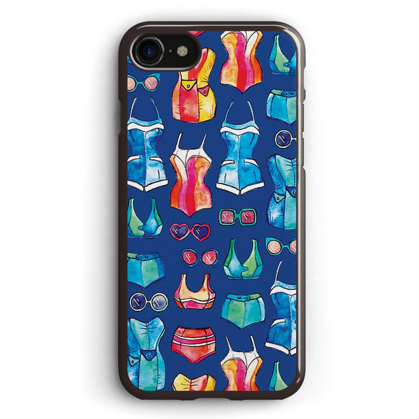 Sixties Swimsuits and Sunnies on Dark Blue Apple iPhone 7 Case Cover ISVG293