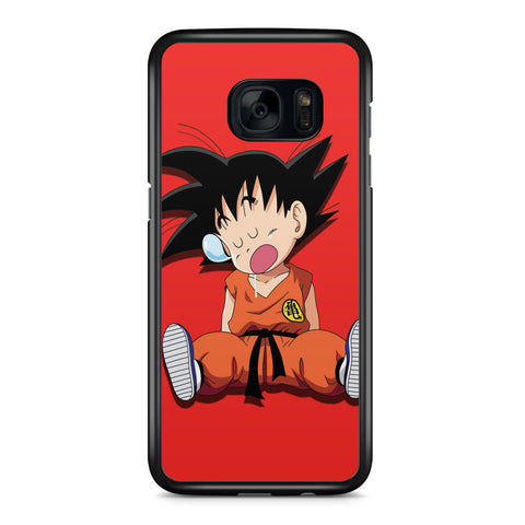 Sleeping Goku Samsung Galaxy S7 Edge Case Cover ISVA295