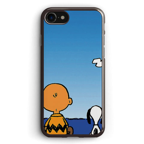 Snoopy Charlie on the Beach Apple iPhone 7 Case Cover ISVH211