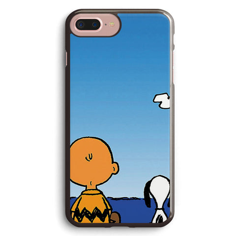Snoopy Charlie on the Beach Apple iPhone 7 Plus Case Cover ISVH211