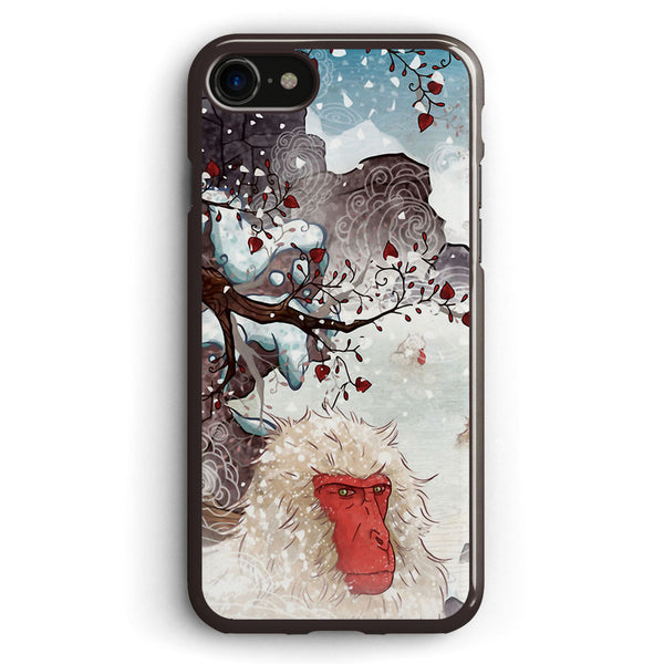 Soaking Japanese Snow Monkeys Apple iPhone 7 Case Cover ISVC445