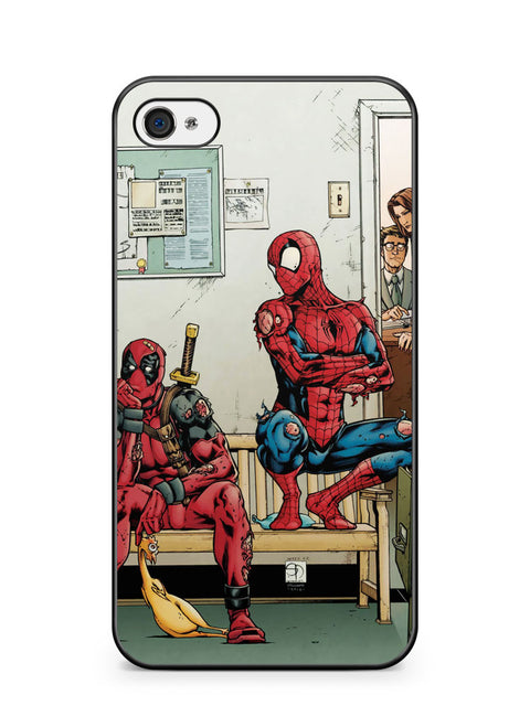 Spider Man and Deadpool Get Sent to the Principal's Office Apple iPhone 4 / iPhone 4S Case Cover ISVA049