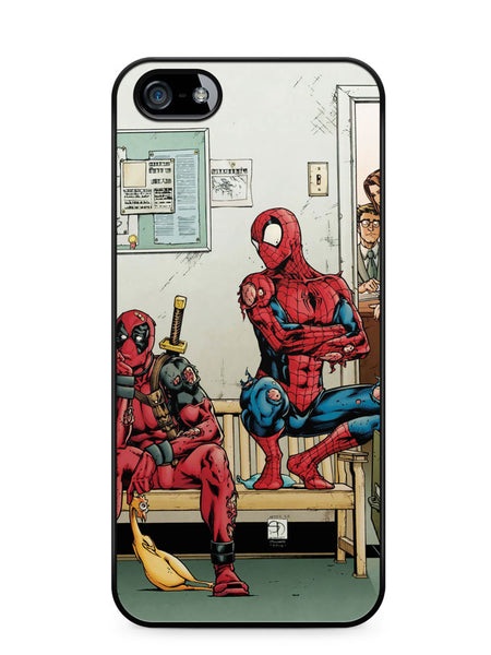 Spider Man and Deadpool Get Sent to the Principal's Office Apple iPhone SE / iPhone 5 / iPhone 5s Case Cover  ISVA049