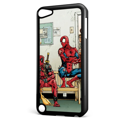 Spider Man and Deadpool Get Sent to the Principal's Office Apple iPod Touch 5 Case Cover ISVA049