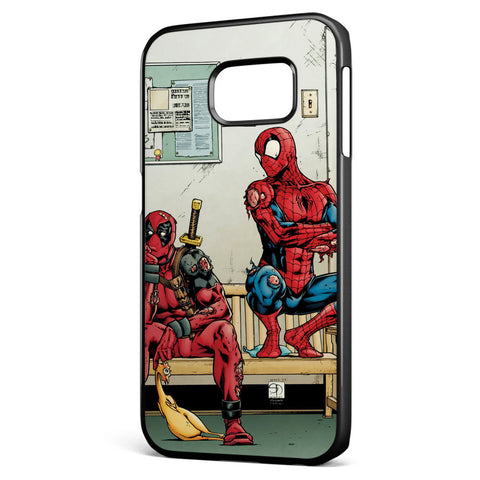 Spider Man and Deadpool Get Sent to the Principal's Office Samsung Galaxy S6 Edge Case Cover ISVA049