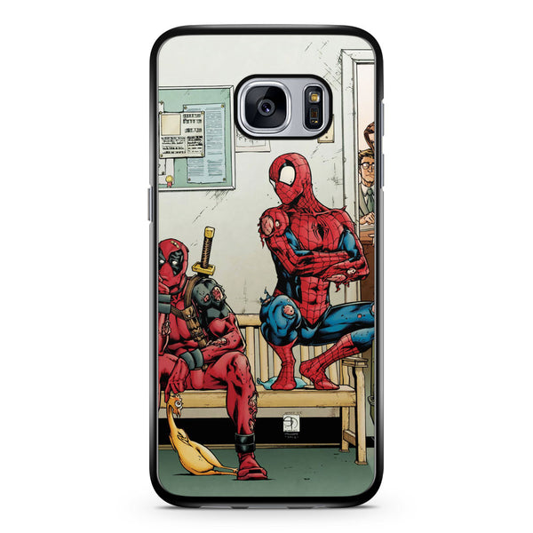 Spider Man and Deadpool Get Sent to the Principal's Office Samsung Galaxy S7 Case Cover ISVA049