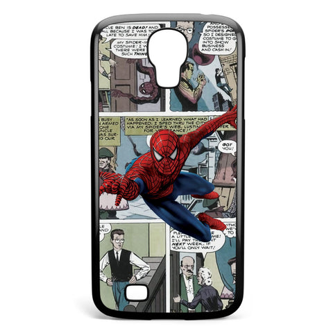 Spiderman Comic Strip Samsung Galaxy S4 Case Cover ISVA334