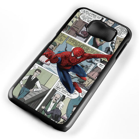 Spiderman Comic Strip Samsung Galaxy S6 Case Cover ISVA334