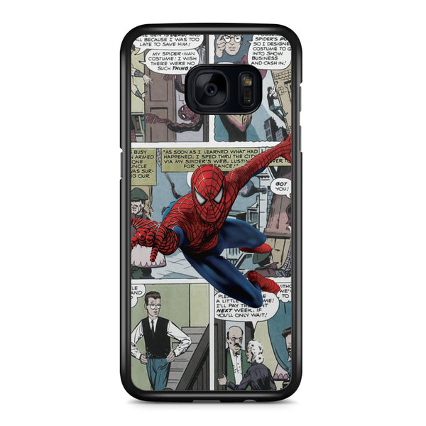 Spiderman Comic Strip Samsung Galaxy S7 Edge Case Cover ISVA334