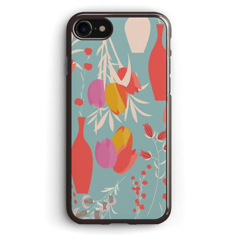 Spring Flower Pattern, Tulips and Lilies Apple iPhone 7 Case Cover ISVG796