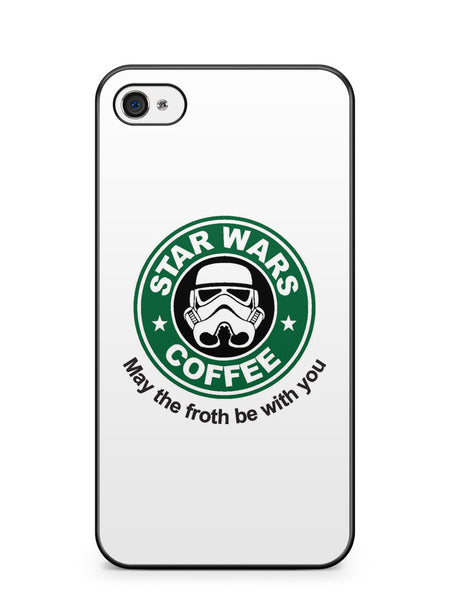 Star Wars Coffee May the Froth Be with You Apple iPhone 4 / iPhone 4S Case Cover ISVA094