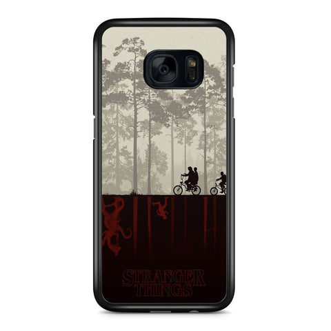 Stranger Things Cycling Samsung Galaxy S7 Edge Case Cover ISVA616