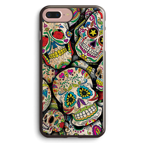 Sugar Skull Collage Apple iPhone 7 Plus Case Cover ISVB824