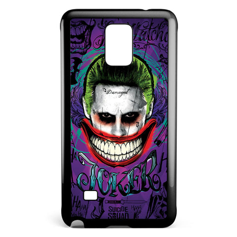 Suicide Squad Joker Smile Samsung Galaxy Note 4 Case Cover ISVA363