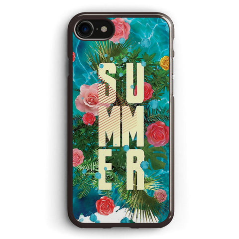 Summer Collage with Flowers and Palm Trees Apple iPhone 7 Case Cover ISVG804