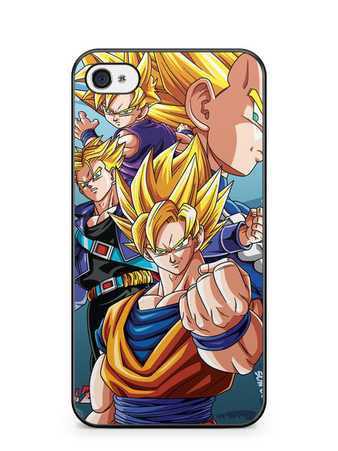 Super Saiyan Dragon Bal Z Dbz Anime Goku Gohan Apple iPhone 4 / iPhone 4S Case Cover ISVA302