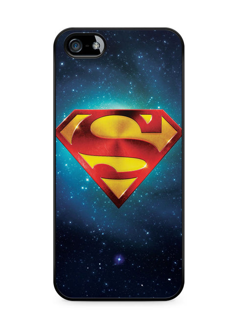 Superman Logo Galaxy Apple iPhone SE / iPhone 5 / iPhone 5s Case Cover  ISVA621