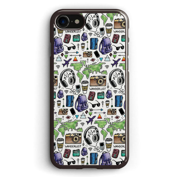 Travel Icon Pattern Apple iPhone 7 Case Cover ISVB290