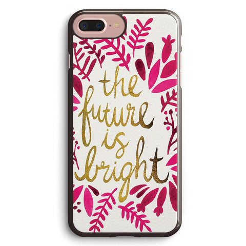 The Future is Bright Pink & Gold Apple iPhone 7 Plus Case Cover ISVG828