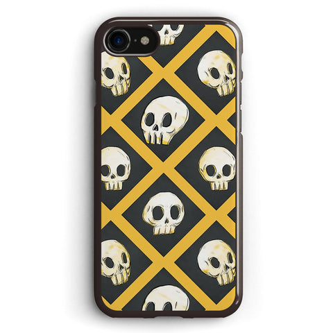 Tiling Skulls 14 Yellow Apple iPhone 7 Case Cover ISVD761