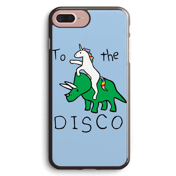 To the Disco (unicorn Riding Triceratops) Apple iPhone 7 Plus Case Cover ISVF517