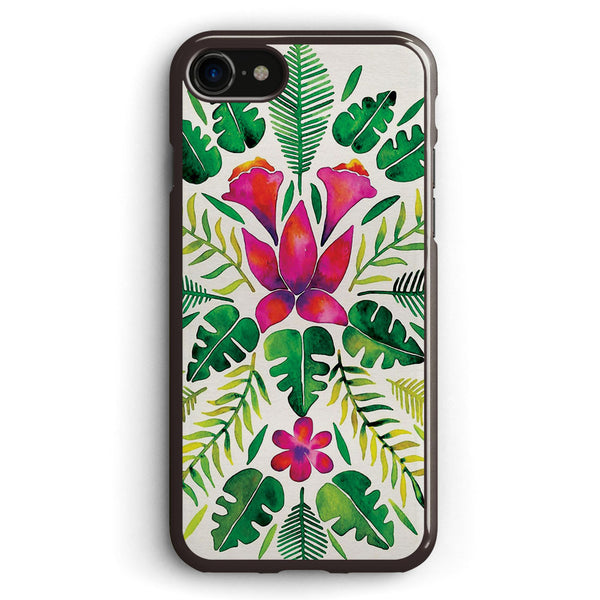Tropical Symmetry Pink & Green Apple iPhone 7 Case Cover ISVE306