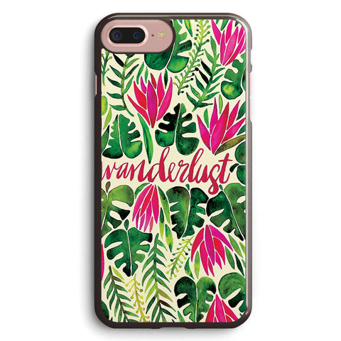 Tropical Wanderlust – Pink & Lime Apple iPhone 7 Plus Case Cover ISVF954