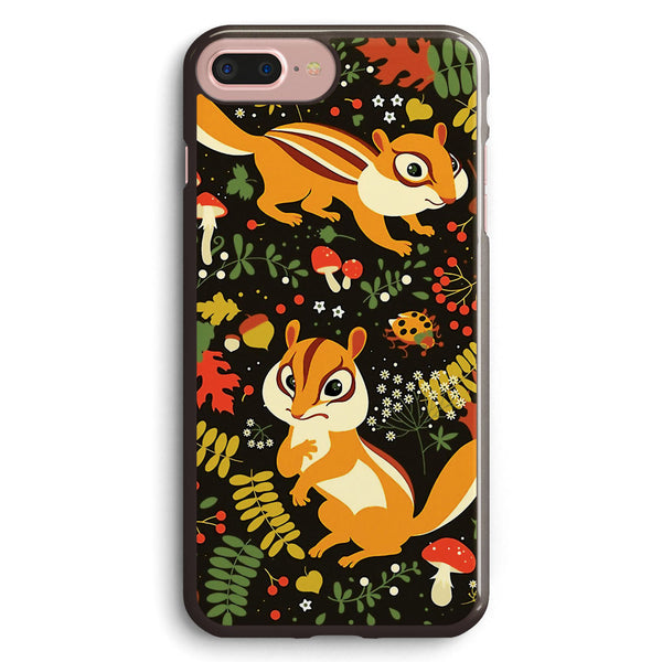 Two Cute Chipmunks in Autumn Background Apple iPhone 7 Plus Case Cover ISVF956