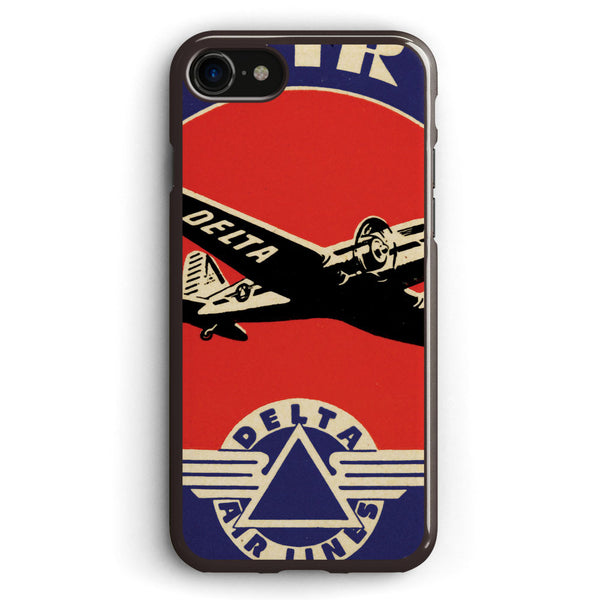 Vintage Delta Airlines Sign Apple iPhone 7 Case Cover ISVG874