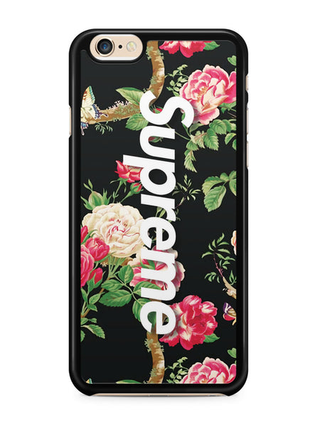 Vintage Flower Black Background Supreme Apple iPhone 6 / iPhone 6s Case Cover ISVA624