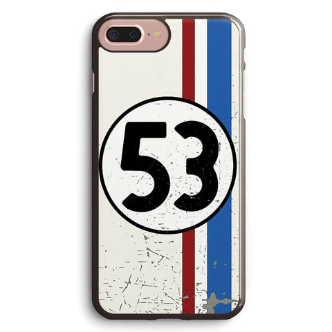 Vintage Look 53 Car Race Number Graphic Apple iPhone 7 Plus Case Cover ISVH660