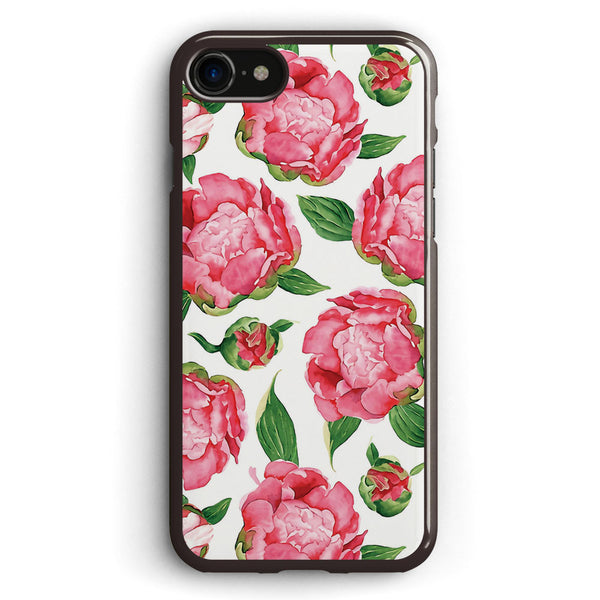 Watercolor Peonies Apple iPhone 7 Case Cover ISVH663