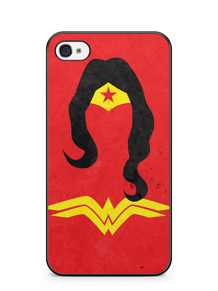 Wonder Woman Vintage Minimalist Apple iPhone 4 / iPhone 4S Case Cover ISVA444