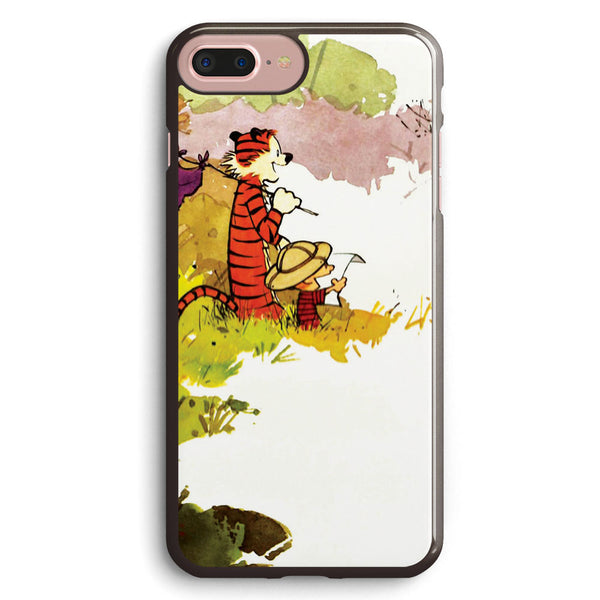 Calvin and Hobbes Funny Forest Apple iPhone 7 Plus Case Cover ISVE423