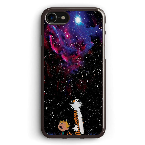 Calvin and Hobbes Waiting Christmas Apple iPhone 7 Case Cover ISVH741