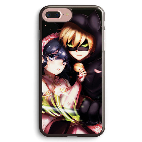 Chat Noir and Marinette Kiss Apple iPhone 7 Plus Case Cover ISVG465