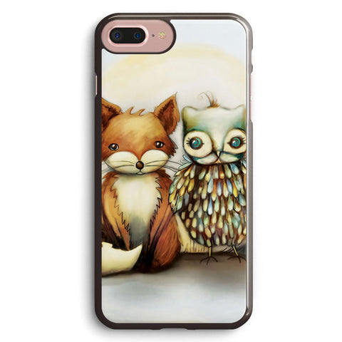 Fox and Owl Apple iPhone 7 Plus Case Cover ISVD359