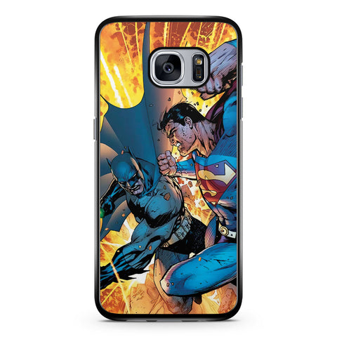 Superman Vs Batman Comic Samsung Galaxy S7 Case Cover ISVA033