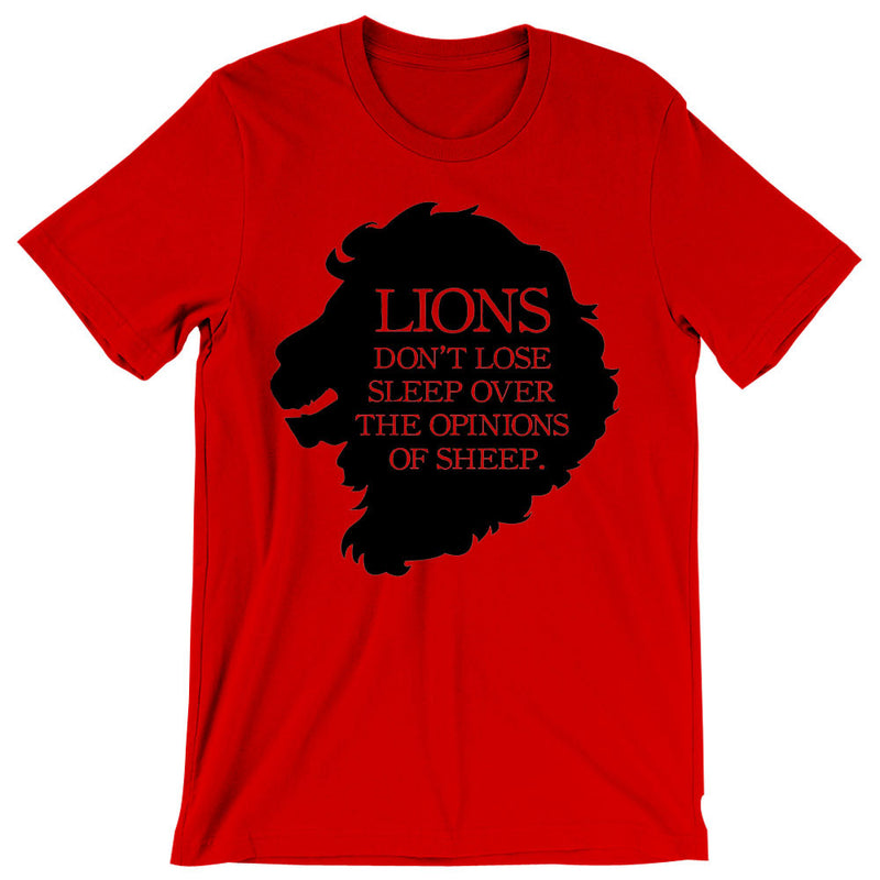 Lions Dont Lose Sleep Over The Opinions Of Sheep MenS T Shirt