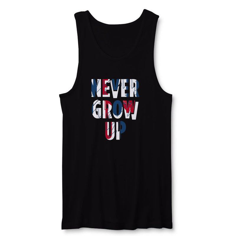 Never Grow Up Peterpan Quote Mens Tank Top Blueskytee