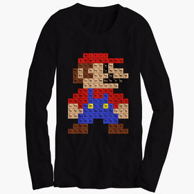 Super Mario Periodic Table Men'S Long Sleeve