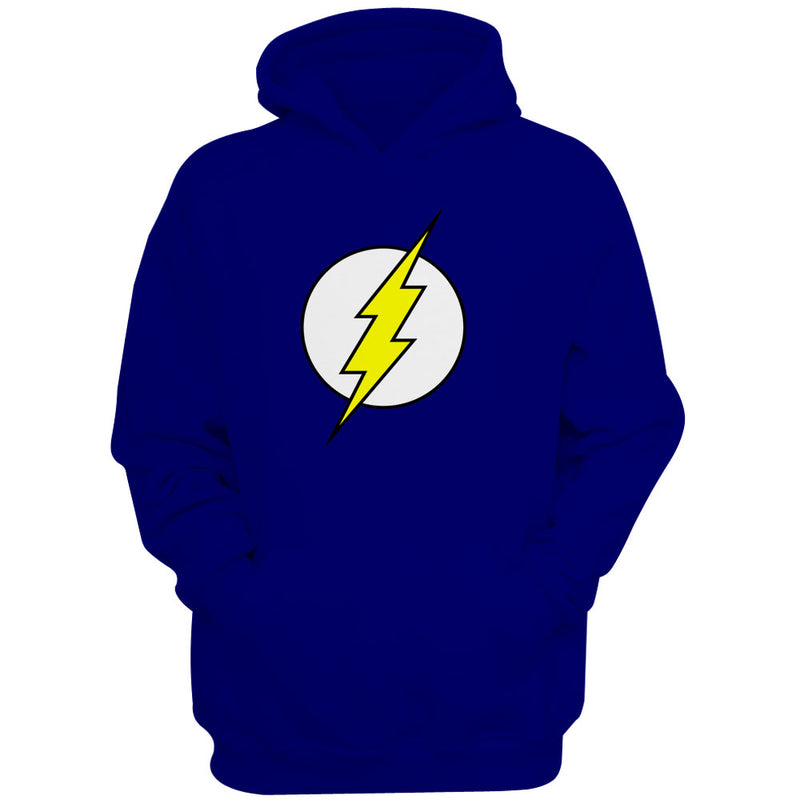 the flash superhero logo women s hoodie blueskytee