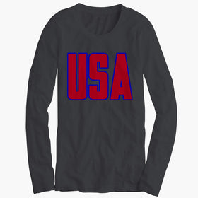 Usa America Patriotic Men'S Long Sleeve